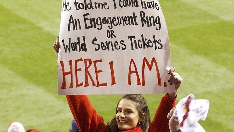 """Он сказал мне выбирать – либо обручальное кольцо, либо билеты на МЛБ. И вот я здесь"""". Фото bazasport.com"""