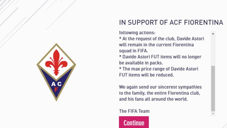 Информационное сообщение в FIFA 18 (продолжение).