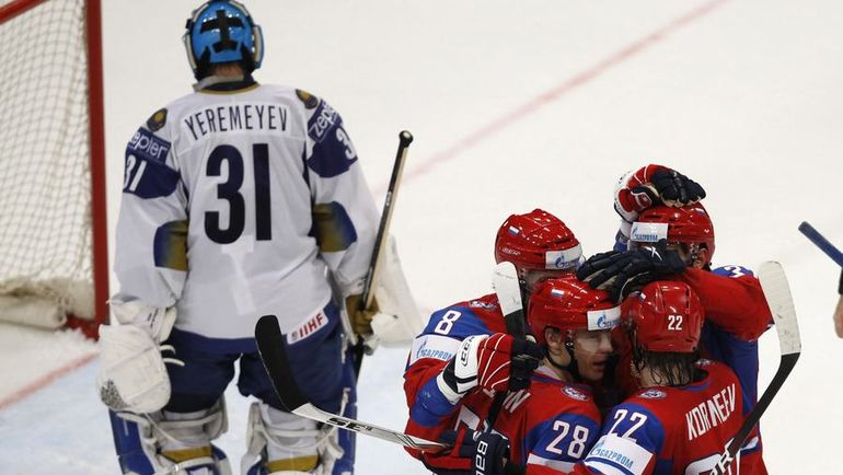 2010 год. Россия - Казахстан - 4:1. Фото REUTERS