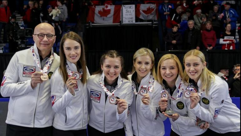 Вчера. Норт-Бэй. Сборная России выиграла бронзу чемпионата мира в Канаде. Фото worldcurling.org