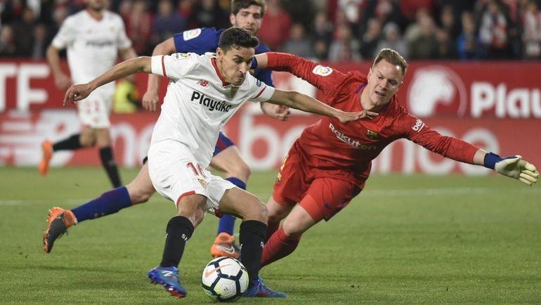 «Барселона» спаслась отпоражения вматче с«Севильей»