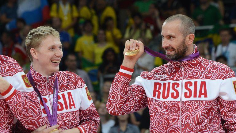 12 августа 2012 года. Лондон. Олимпийский чемпион Сергей ТЕТЮХИН (справа). Фото AFP
