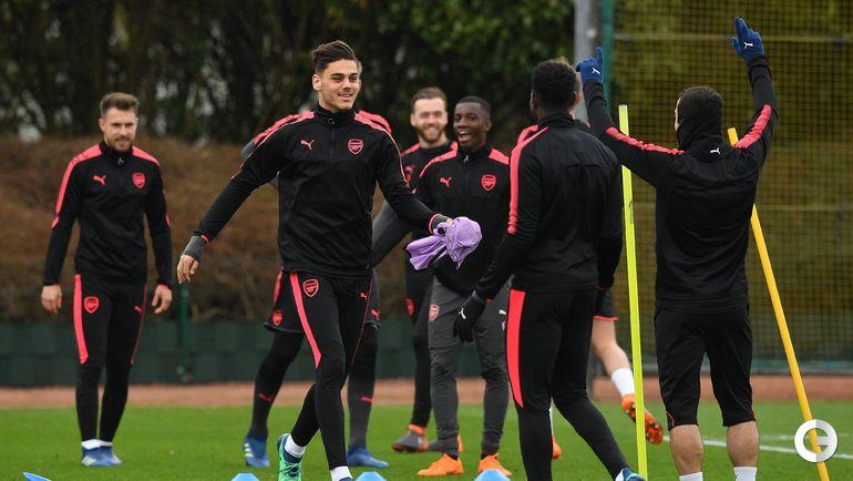 """Сегодня. Лондон. Тренировка """"Арсенала""""."""