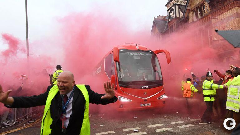 """Среда. Ливерпуль. Беспорядки перед матчем Лиги чемпионов """"Ливерпуль"""" - """"Манчестер Сити""""."""