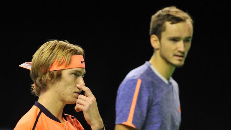 Андрей РУБЛЕВ (слева) и Даниил МЕДВЕДЕВ. Фото Никита УСПЕНСКИЙ