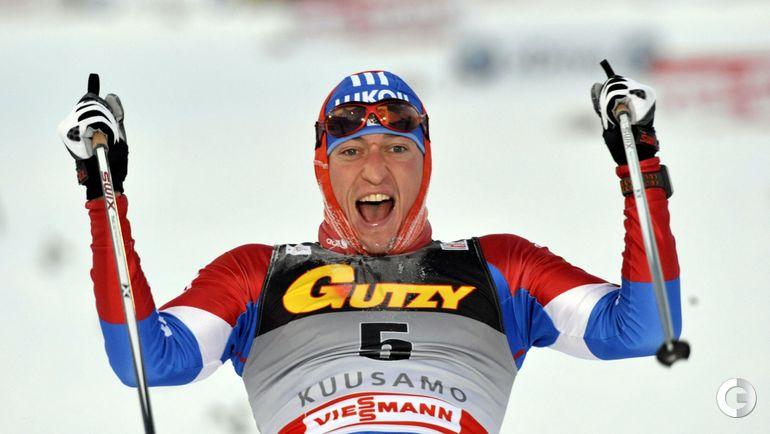 2010 год. Александр ЛЕГКОВ выигрывает 15-километровую гонку в Кубке Мира.