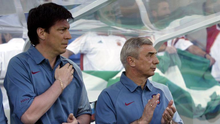 """Ринат ДАСАЕВ и Георгий ЯРЦЕВ на Евро-2004. Фото Александр ФЕДОРОВ, """"СЭ"""""""