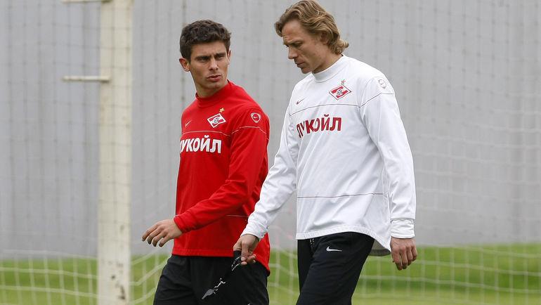 2010 год. Алекс и Валерий Карпин
