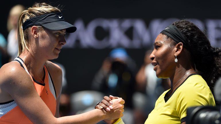 Мария ШАРАПОВА и Серена УИЛЬЯМС - главные звезды женского тенниса в 2010-х. Фото AFP