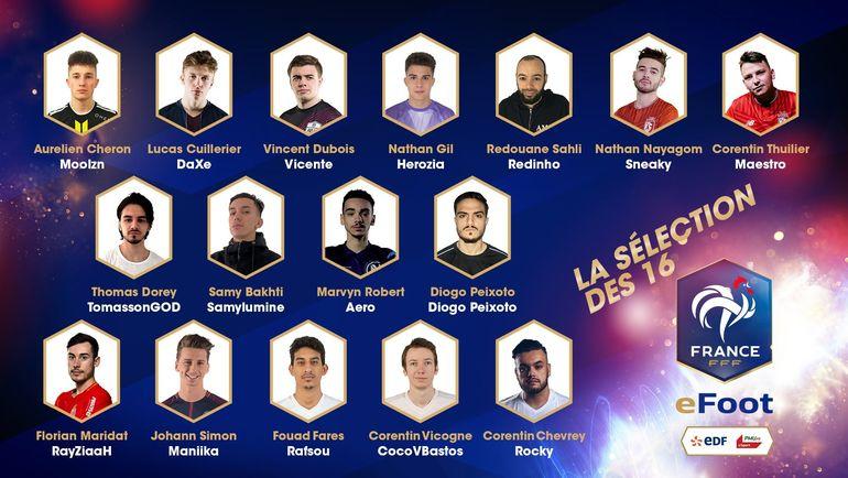 Первый состав киберфутбольной сборной Франции. Фото twitter.com/efootdefrance