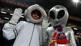 Что творится на трибунах во время матча ЦСКА -