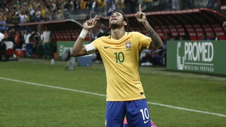 Лидер сборной Бразилии НЕЙМАР. Фото AFP