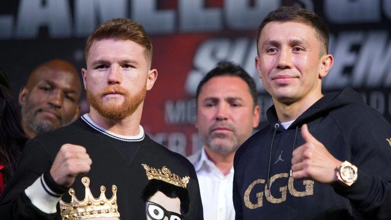 Сауль АЛЬВАРЕС (слева) и Геннадий ГОЛОВКИН. Фото REUTERS
