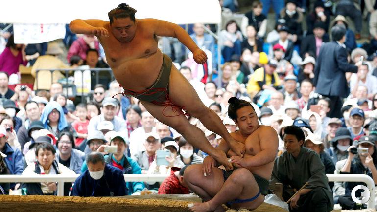Понедельник. Токио. Турнир сумо в святилище Ясукуни.