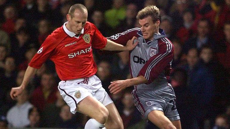 """Яп СТАМ (слева) во время выступлений за """"Манчестер Юнайтед"""". Фото REUTERS"""