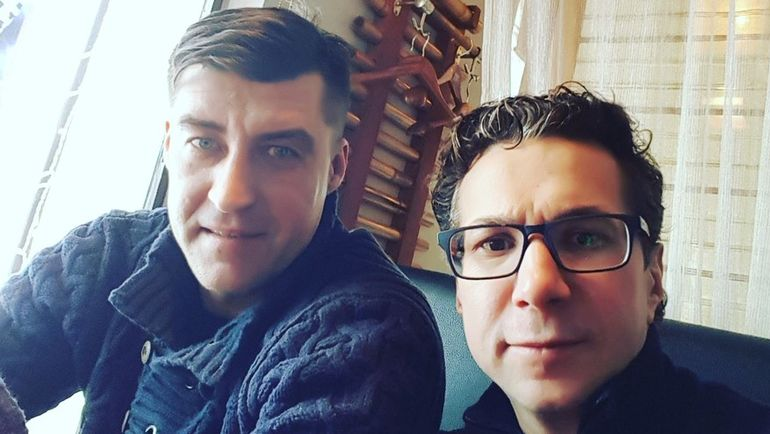 2018. Москва. Игорь КУДЕЛИН (слева) и Кирилл ЗАНГАЛИС.