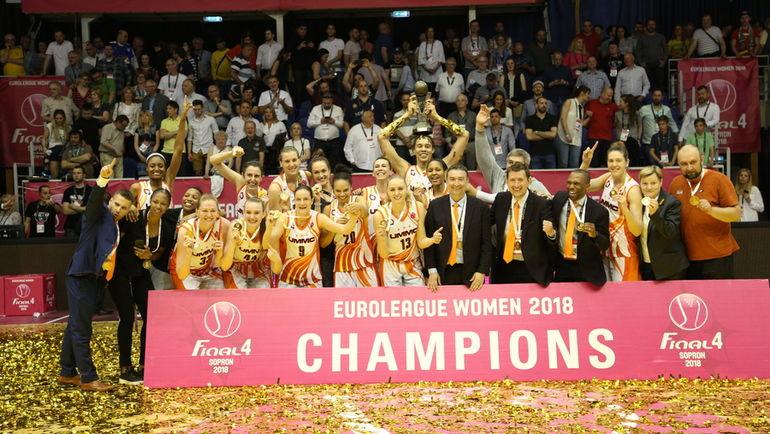 УГМК в четвертый раз в истории завоевал титул лучшего клуба Европы. Фото БК УГМК