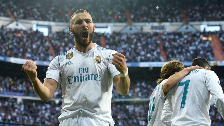 "Вторник. Мадрид. ""Реал"" - ""Бавария"" - 2:2. Автор дубля Карим БЕНЗЕМА. Фото AFP"
