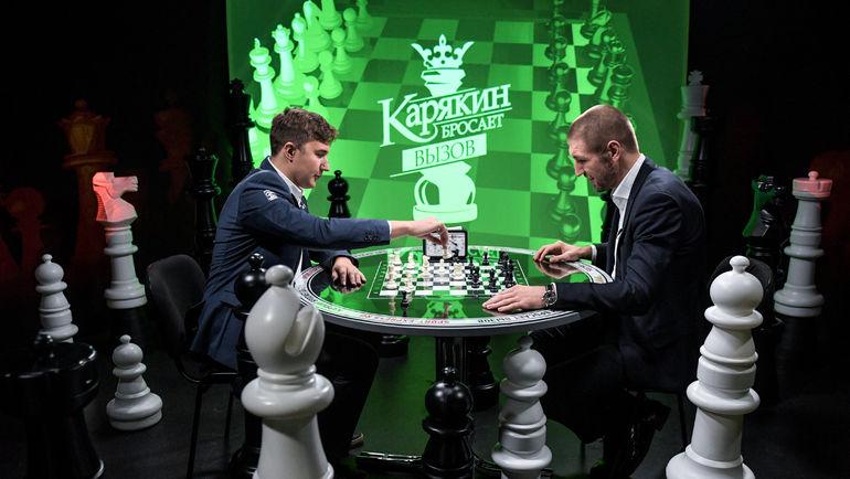"""Сергей КАРЯКИН (слева) и Дмитрий ПИРОГ. Фото Дарья ИСАЕВА, """"СЭ"""""""