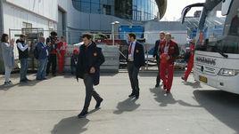 Сборная России приехала на матч с Францией