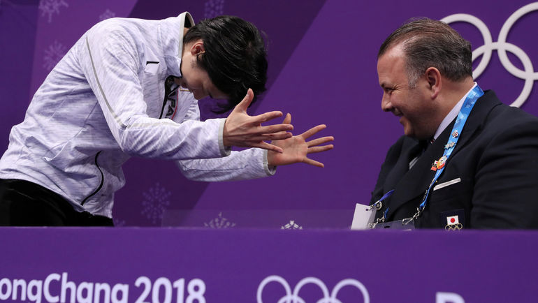 Юдзуру ХАНЮ и Брайан ОРСЕР. Фото REUTERS