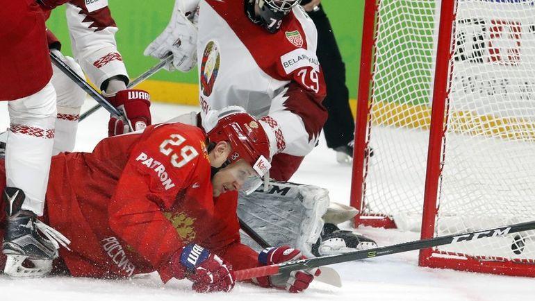 7 мая. Копенгаген. Россия - Белоруссия - 6:0. Илья КАБЛУКОВ. Фото REUTERS