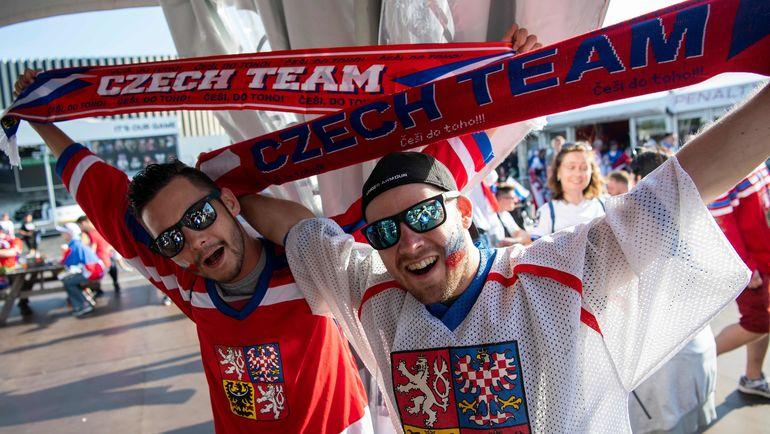 Сегодня. Копенгаген. Болельщики сборной Чехии. Фото AFP