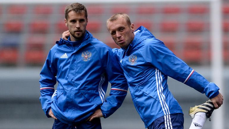 """Дмитрий КОМБАРОВ (слева) и Денис ГЛУШАКОВ. Фото Дарья ИСАЕВА, """"СЭ"""""""