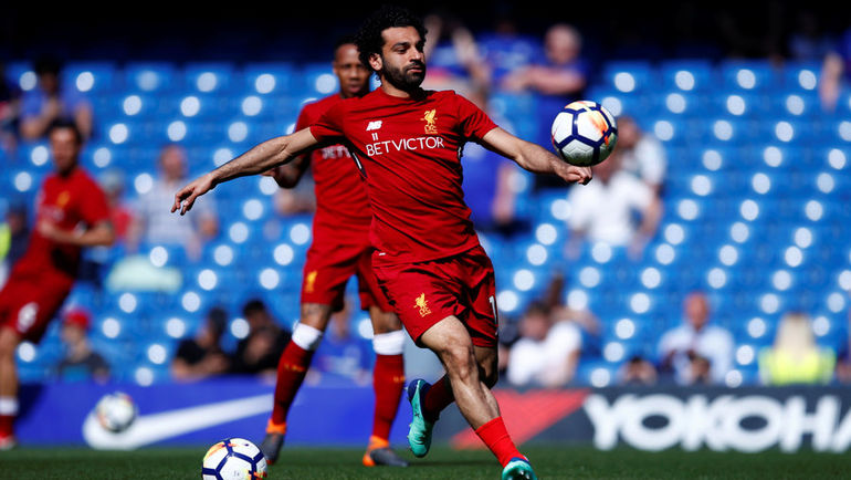 """Лидеру """"Ливерпуля"""" Мохамеду САЛАХУ надо забить еще один мяч, чтобы обновить рекорд премьер-лиги по числу голов за сезон. Фото REUTERS"""
