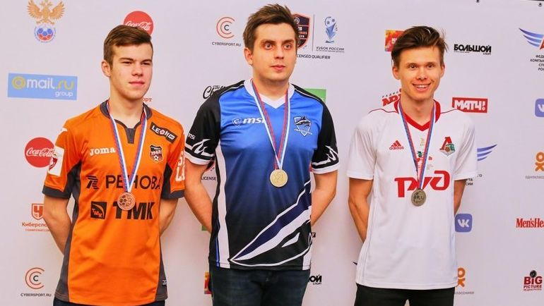 Тройка победителей Кубка России. Фото Loko eSports Team