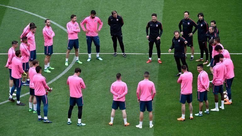 """Тренировка """"Атлетико"""". Фото AFP"""