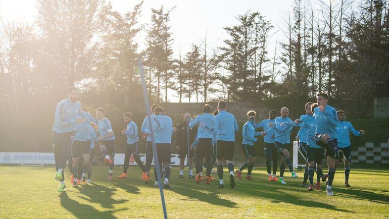 """Тренировка """"Марселя"""". Фото twitter.com/OM_English"""