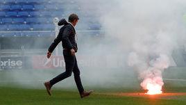 Финал Лиги Европы. Игра не началась, а фанаты уже зажигают