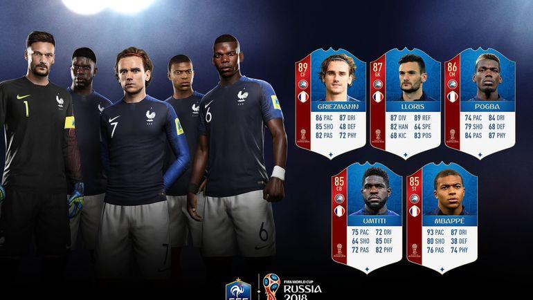 Звезды сборной Франции в FIFA 18. Фото EA Sports