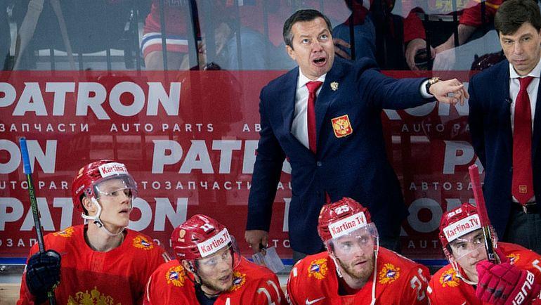 Илья ВОРОБЬЕВ на скамейке сборной России. Фото AFP