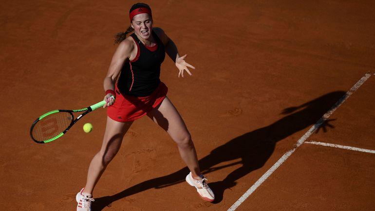 Елена ОСТАПЕНКО во время матча против Марии Шараповой. Фото AFP