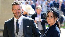 Серена Уильямс и Дэвид Бекхэм на свадьбе принца Гарри и Меган Маркл