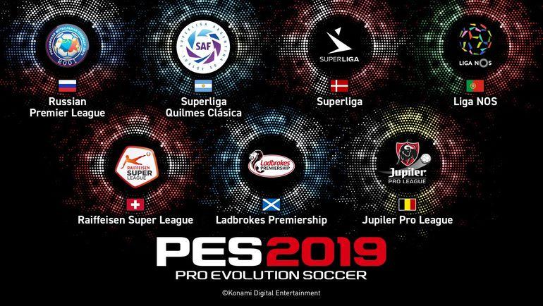 7 новых чемпионатов, которые появятся в PES 2019. Фото Konami