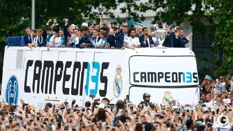 "27 мая. Мадрид. Чемпионский парад ""Реала""."