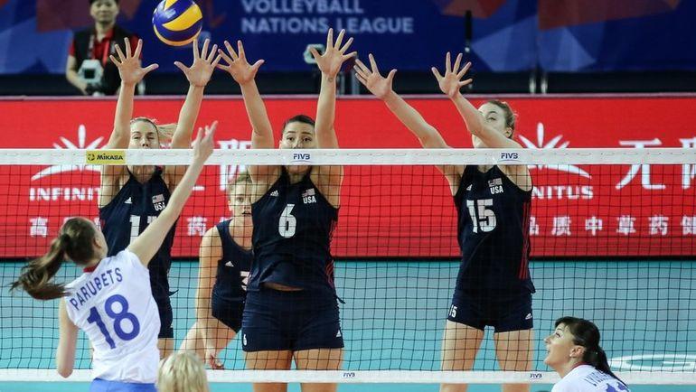 Американки нанесли россиянкам четвертое поражение в Лиге наций. Фото twitter.com/usavolleyball