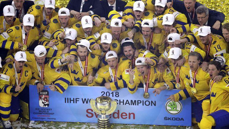 Сборная Швеции - чемпион мира. Фото REUTERS