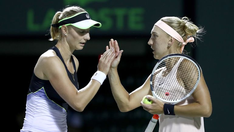 Екатерина МАКАРОВА и Елена ВЕСНИНА. Фото AFP