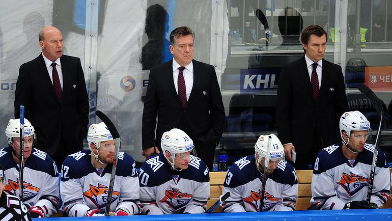 Майк ПЕЛИНО (в центре), Майк КИНЭН (слева) и Сергей ЗВЯГИН.. Фото Никита УСПЕНСКИЙ