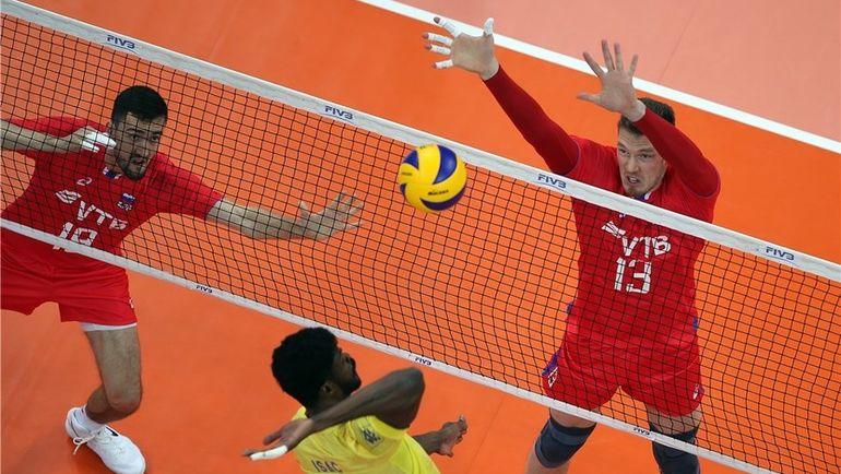 Пятница. Уфа. Сборная России проиграла Бразилии (1:3) в предварительном раунде Лиги Наций. Фото FIVB