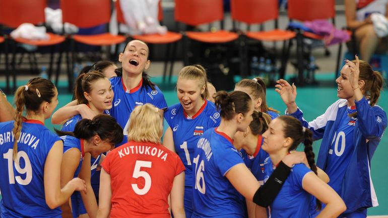 Вторник. Валбжих. Россия - Доминиканская республика - 3:0. Россиянки победили, но большой радости это уже не принесет. Фото FIVB