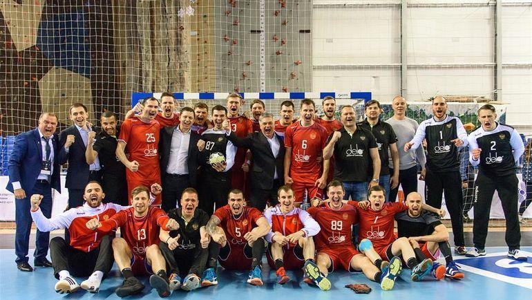 12 июня в Перми прошел ответный квалификационный матч между сборными России и Чехии. Фото Пресс-служба Федерации гандбола России
