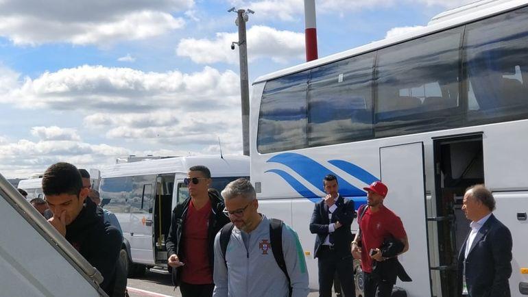 """Криштиану РОНАЛДУ вместе с партнерами по сборной Португалии отправляются в Сочи. Фото """"СЭ"""""""