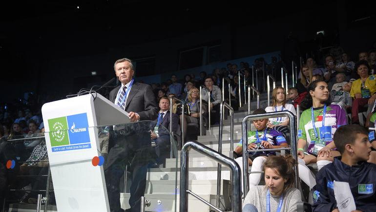 Выступление Виктора ЗУБКОВА на Международном детском форуме.