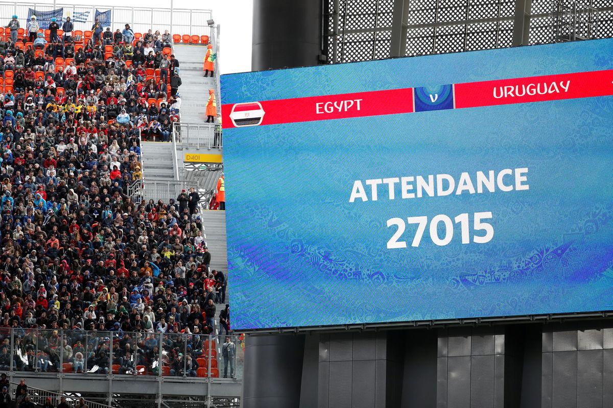 Почему на матче Египет - Уругвай были пустые места? Ответ - здесь