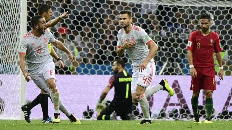 Пятница. Сочи. Португалия - Испания - 3:3. НАЧО (№4) празднует гол. Фото AFP
